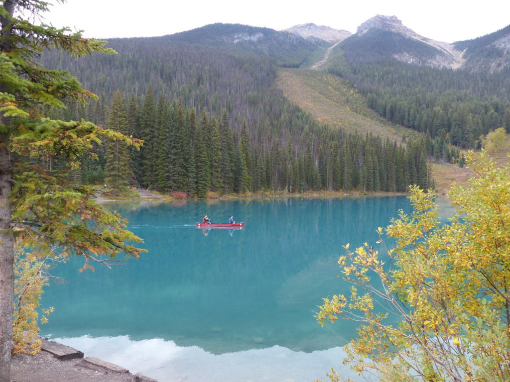kayaking - one of our favorite things to do in the Canadian Rockies